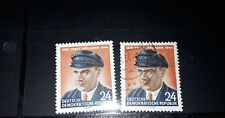East DDR  1954 10th death  anniversary of Thalmann mint and used