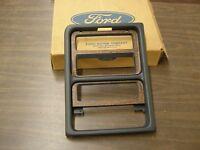 NOS OEM Ford 1985 Mercury Cougar Center Dash Radio Bezel Trim Woodgrain