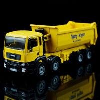 1:50 Scale Alloy Dump Truck Excavator Diecast Construction Vehicle Car Toy Model