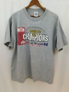 Ohio State Buckeyes Football Big Ten Champions 2006 Mens T-Shirt L Large Gray