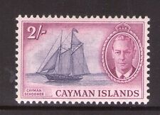 CAYMAN ISLANDS 2/- SG145 lightly hinged.