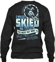 Stylish Skiing Gildan Long Sleeve Tee T-Shirt Gildan Long Sleeve Tee T-Shirt