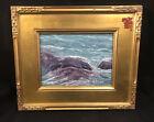 "Carol Holmblad ""Wave Action"" Oil Grand Marais Art Colony Seascape Lake Superior"
