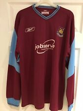 *L* 2003/05 WEST HAM Home Reebok Football L/S Shirt