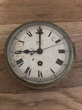 Large Antique 19thC Smiths Astral Royal Navy Nautical Brass Ships Clock