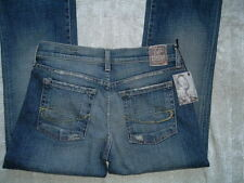 Nwt CHIP & PEPPER PAMELA BLUE COTTON FRAYED ROCKER DENIM JEANS 27 X 33