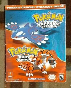 Pokemon Sapphire & Ruby Versions Prima Official Strategy Game Guide