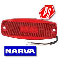NARVA LED 9-33V Rear End Outline Marker Lamp with Inbuilt Retro Reflector RED
