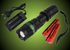 Cree LED 2000 Lumen  Zoom + Ladegerät + 2 x 18650 Akku 4200 mAh Wasserdicht