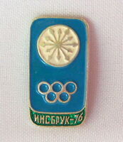 Innsbruck Winter Olympic Games 1976 Soviet Russian USSR pin badge Pinback Sport