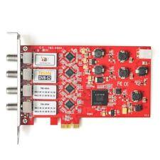 TBS 6904 Quad Tuner DVB-S2 HD Satellite TV Tuner PCI-e Card