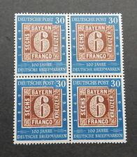 Bund 115 ** 100 J. Briefmarken Viererblock geprSchlegel