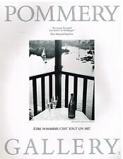 Publicité Advertising 1987 Champagne Pommery par Raymond Depardon