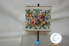Miniature Dollhouse Antique Floral Petit Point Mounted on Wood  1:12 NR