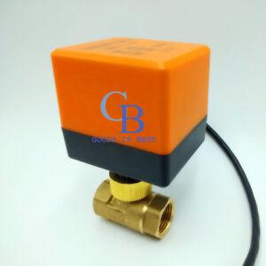 """AC 24V G1-1/2"""" DN40 Brass 2 Way Motorized Ball Valve Electrical Valve"""