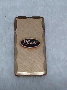 Vintage Pfizer Alligator Gold Claw Money Clip 12 KGF