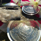 2 x Domed Florin Pendant - Sterling Silver Disc - Choose the Year