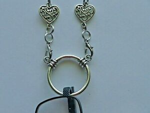 """24"""" HEARTS SOLDERED STAINLESS STEEL CHAIN EYEGLASS HOLDER LA NECKLACE + LOBSTERS"""