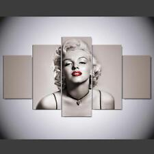5 pcs Large HD Marilyn Monroe Wall Art Print on Canvas Home Decor Landscape