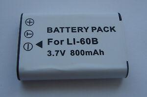 Battery Li-60B Li60B For Pentax Optio M60 W60 W80 V20 M50 New IN France