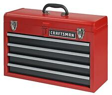 Craftsman 4 Drawer Portable Metal Box Steel Mechanic Tool Chest Toolbox 35424