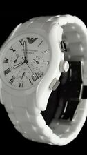 NEW EMPORIO ARMANI AR1403 MENS WHITE CERAMICA WATCH !