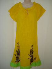 Ethiopian- Eritrean Traditional Dress Cotton~Handwaved & Spun, in Yellow~Small