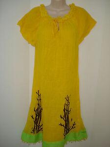 Ethiopian- Eritrean Traditional Dress Cotton~Handwaved & Spun, in Yellow~Small