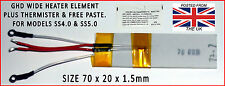 NEW - WIDE SS4.0 & SS5.0 GHD 70 OHM HEATER ELEMENT & THERMISTOR & FREE PASTE.