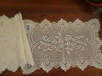 "Ivory floral lace table mat placemat lot of 6 13 x 20 "" Liechthenstein new"