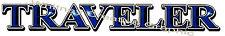 """""""TRAVELER"""" RV Trailer LOGO Graphic decal lettering vinyl sticker"""