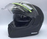 OPEN BOX - Icon Airflite Rubatone Matte Black Motorcycle Helmet with Sun Visor