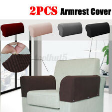 2X Premium Sofa Armrest Covers Couch Chair Arm Protectors Stretchy Set Stretch