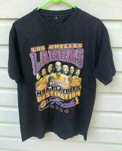 VTG Los Angeles Lakers Reloaded 2004 Finals Kobe Shaq T-Shirt Large .4 Seconds