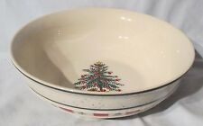 Country Crock Christmas Green Strip Christmas Tree Serving Bowl