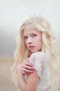 Mini Tiara Crown for Newborn - Baby Photo Prop Crystal and Rhinestone Round 4002