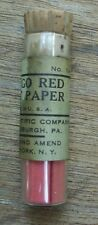Vintage LITMUS TEST PAPER Strips CONGO RED Fisher Scientific 14-861 Glass 100