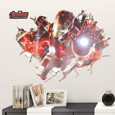 3D The Avengers Wall Sticker Kids Decor Nursery Boys Room Removable Decal Gifts