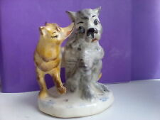 Wolf and red fox Characters of fairy tales Russian porcelain figurine  7216ud
