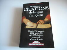 DICTIONNAIRE DES CITATIONS DE LANGUE FRANCAISE - PIERRE RIPERT