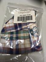 Longaberger Woven Traditions Plaid ADDRESS Basket Liner ~ Brand New in Package!