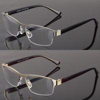 Metal Square Frame Reading Glasses No Line Progressive Clear Lens Retro