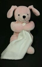 Jerry Elsner Pets Pink Plush Puppy White Security Blanket Lovey Bean Bag Dog 8""
