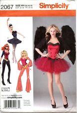 Simplicity Costume Pattern 2067 Angel Ballerina Disco Size 6-8-10-12 UNCUT
