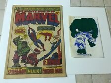 The Mighty World Of Marvel #1 => Vf/Nm With Hulk Transfer 1972