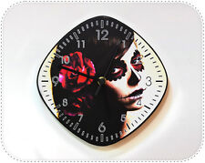 Catrina Calavera Sugar Skull - Mexican Art Decor Gift - Wall Clock