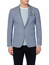 081e7a612be REMUS Uomo Novo Cotton Slim Fit Smart Summer Jacket/blazer Blue 44r