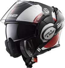 LS2 Helmet Bike Flip-up Ff399 Valiant Avant White Black Red L