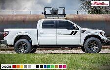 Decal Vinyl Sticker Side Door Stripes for Ford F150 Raptor SV 2007 2018 Offroad