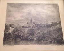 Vintage Small framed Etching Litho Knuyanam by John H Wood 1955